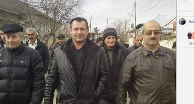 Arzuman Gurbanov (in the center). Screenshot from his personal page on Facebook https://www.facebook.com/arzuman.qurbanov.39