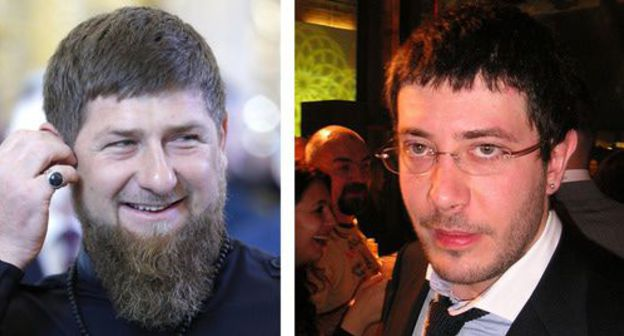 "Artemy Lebedev (on the right) and Ramzan Kadyrov. Collage by the ""Caucasian Knot"". Photos: Alexander Plyuschev CC BY 2.0 https://ru.wikipedia.org/ Sputnik/Mikhail Metzel/Pool via REUTERS"