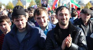 "Youth in Grozny. Photo by Magomed Magomedov for the ""Caucasian Knot"""