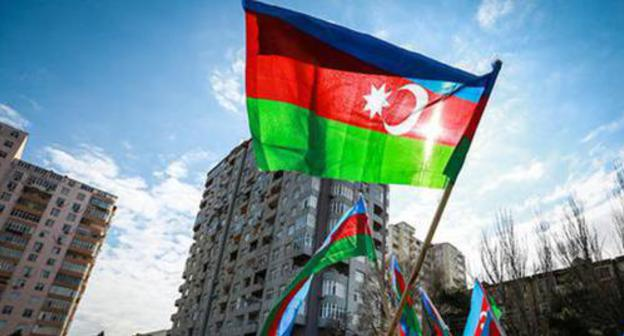 Flag of Azerbaijan. Photo by Aziz Karimov for the Caucasian Knot