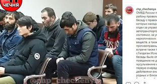 The police in Chechnya subjected drivers suspected of drinking alcohol to a public condemnation. Screenshot of the video on Instagram https://www.instagram.com/p/B55OcLjFbuu/