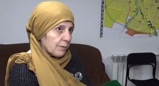 "Roza Murdalova, a resident of the Urus-Martan District. Screenshot of the video by the ""Grozny"" TV Channel ttps://www.youtube.com/watch?v=4vQ8Psr0yIw&feature=emb_title"