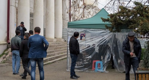 "The opposition activists began a round-the-clock action in Stepanakert. Nagorno-Karabakh. March 25, 2020. Photo by Alvard Grigoryan for the ""Caucasian Knot"""