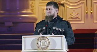 Ramzan Kadyrov attends a grand opening of the Palace of Arts in Grozny. Screenshot from video posted by IA 'Grozny-Inform', https://www.youtube.com/watch?time_continue=22&v=m9qwsEsi-50&feature=emb_logo