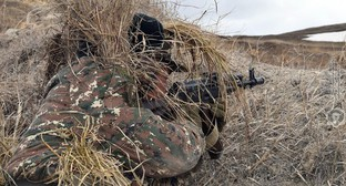 A soldier of the Nagorno-Karabakh Defence Army. Photo by the Ministry of Defence of Armenia http://www.mil.am/hy/news/7681