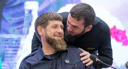 Ramzan Kadyrov and Magomed Daudov. Photo by the press service of the head of Chechnya