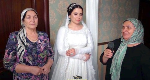 Wedding in Chechnya. Screenshot from video posted at 'Chechen Weddings' YouTube Channel: https://www.youtube.com/watch?time_continue=203&v=gt-OQMRN2Mo&feature=emb_logo