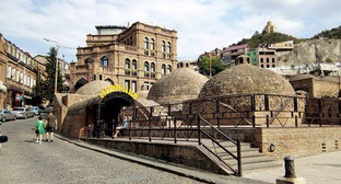 "Abanotubani, an ancient district of Tbilisi, Georgia, which is popular among tourists. Photo by M. Kuznetsova for the ""Caucasian Knot"""