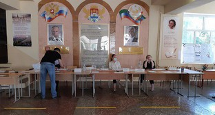 "A polling station in Makhachkala. Photo by Oleg Ionov for the ""Caucasian Knot"""
