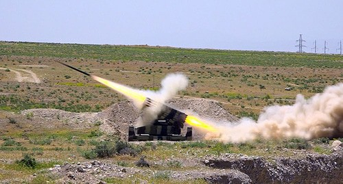 Live artillery. Photo by the press service of the Ministry of Defence of Azerbaijan https://mod.gov.az/