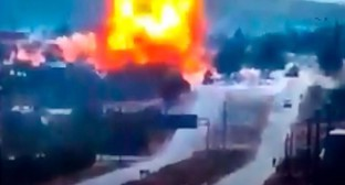 Three fighters of the military police from Ingushetia were injured as a result of the explosion. Screenshot of the video ROSGVARDIA RUSSIA https://www.youtube.com/watch?time_continue=1&v=Xp1SV34RxRQ&feature=emb_logo