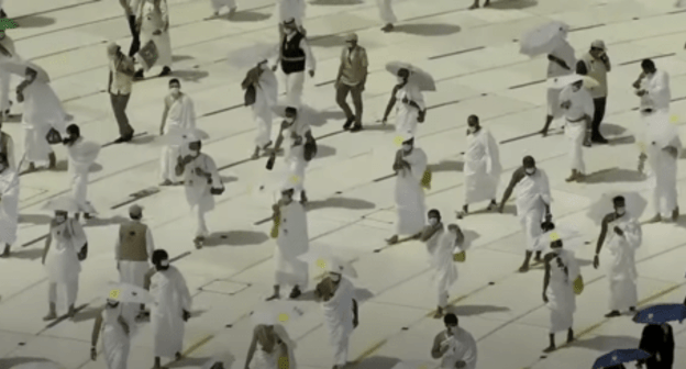 Hajj in 2020. Screenshot of the video https://youtu.be/rIofaJIUSb4