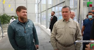 Yuri Trutnev and Ramzan Kadyrov. Screenshot: https://www.youtube.com/watch?v=bzf5o07oJlA&feature=youtu.be