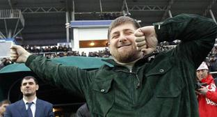 Ramzan Kadyrov dancing lezginka, Grozny, March 8, 2011. Photo: REUTERS/Sergei Karpukhin