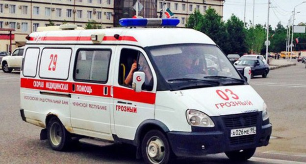 "An ambulance. Grozny. Photo by Magomed Magomedov for the ""Caucasian Knot"""