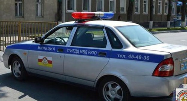 A police car in South Ossetia. Photo by the press service of the South-Ossetian Ministry of Internal Affairs http://mvdruo.ru/