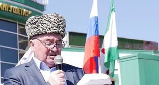 Malsag Uzhakhov. Screeshot from the video posted by Fortanga.Org: https://www.youtube.com/watch?v=qfFMlE02KJw