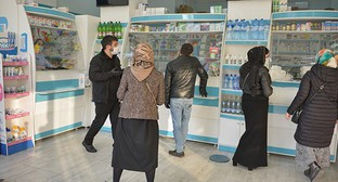 A drugstore in Grozny. Photo: REUTERS/Ramzan Musaev