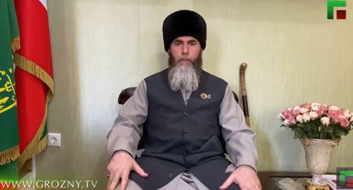 Salakh Mezhiev, the Mufti of Chechnya. Screenshot: https://www.youtube.com/watch?v=wBh8JQhmZSU