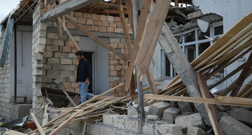 A house in the Terter District damaged as a result of shelling. Photo by Aziz Karimov for the Caucasian Knot