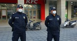 The police of Baku during the pandemic. Photo: REUTERS/Aziz Karimov