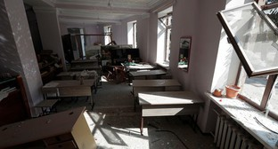 An art school destroyed as result of shelling of Martuni, October 14, 2020. Photo: REUTERS / Stringer