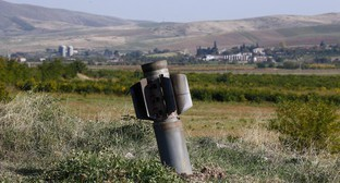 Remains of rocket missile near Martuni (Khojavend), October 14, 2020. Photo: REUTERS/Stringer
