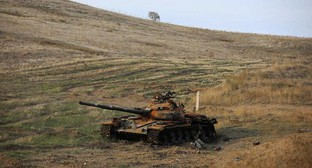 A tank. Nagorno-Karabakh, November 26, 2020. Photo: REUTERS/Aziz Karimov