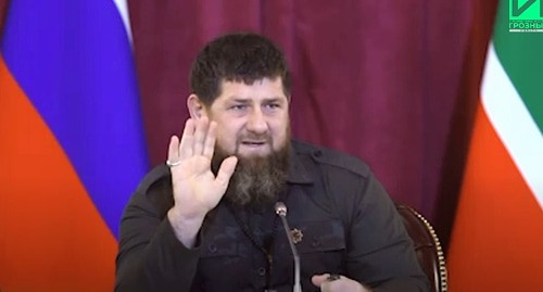 Ramzan Kadyrov. Screenshot: https://www.youtube.com/watch?v=fYnVDSqgwDA
