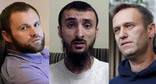 "Zelimkhan Khangoshvili, Tumso Abdurakhmanov, Alexei Navalny (from left to right). Collage by the ""Caucasian Knot"". Photos: REUTERS/Evgenia Novozhenina, press service of the HRC ""Memorial""; https://memohrc.org/, screenshot: «ABU-SADDAM SHISHANI» YouTube channel"