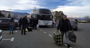 Residents of Nagorno-Karabakh return from Yerevan to Stepanakert, January 16, 2021. Photo by Alvard Grigoryan for the Caucasian Knot