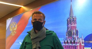 Alexei Navalny at the Moscow's Sheremetyevo Airport, January 17, 2021. Photo: REUTERS/Polina Ivanova