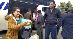 Residents of Nagorno-Karabakh return from Yerevan to Stepanakert, January 2021. Photo by Alvard Grigoryan for the Caucasian Knot