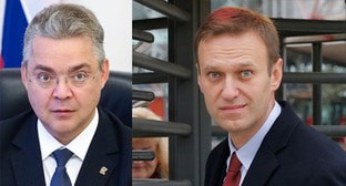 Vladimir Vladimirov (left) and Alexei Navalny. Collage by the Caucasian Knot. Photo: T. Barybina https://ru.wikipedia.org/ REUTERS/Vincent Kessler