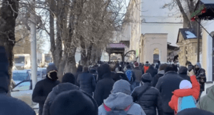 Protest rally in Stavropol, January 23, 2021. Screenshot: https://www.facebook.com/permalink.php?story_fbid=3996140240410493&id=100000436699400