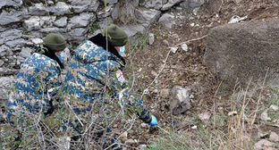 Search for remains of people. Photo: press service of the Nagorno-Karabakh Ministry for Emergencies https://www.facebook.com/RescueServiceOfTheNKR/
