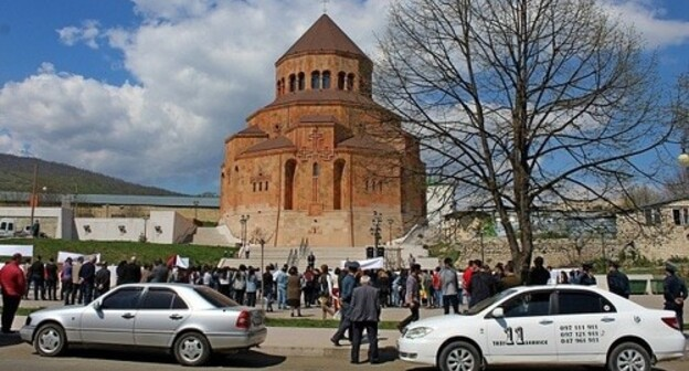 Rally in Stepanakert. Photo by Alvard Grigoryan for the Caucasian Knot