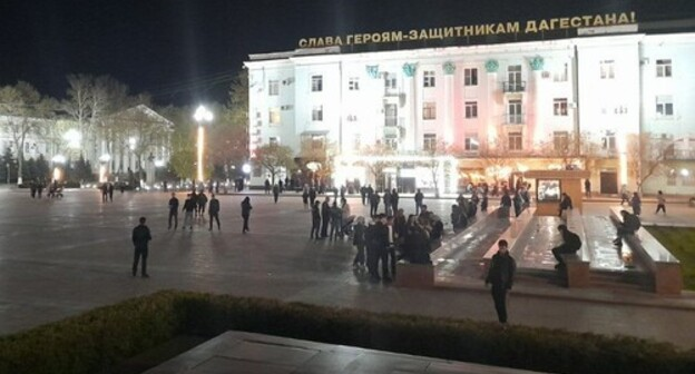 "The central square of Makhachkala, April 21, 2021. Photo by Malik Butaev for the ""Caucasian Knot"""