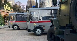 "Special vehicles in Sochi on April 21, 2021. Photo by Svetlana Kravchenko for the ""Caucasian Knot"""