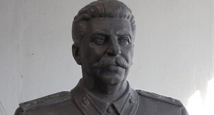 A bust of Stalin. Photo by the press service of the KPRF (the Communist Party of the Russian Federation), http://m.sibkray.ru/news/1/896937/