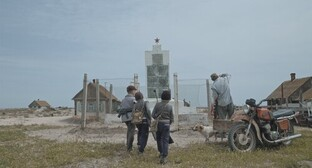 "Screenshot of the film ""Ostrov – Lost Island"" about the Chechen Island in Makhachkala"